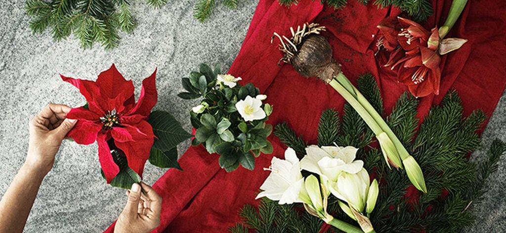 Lag julepynt av blomster