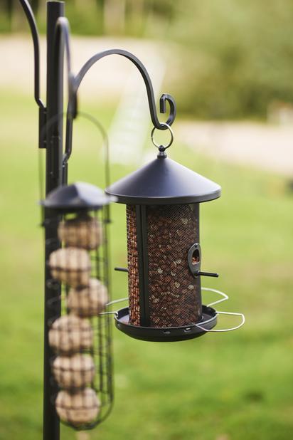 Fuglemater frø og nøtter, Høyde 28.5 cm, Svart