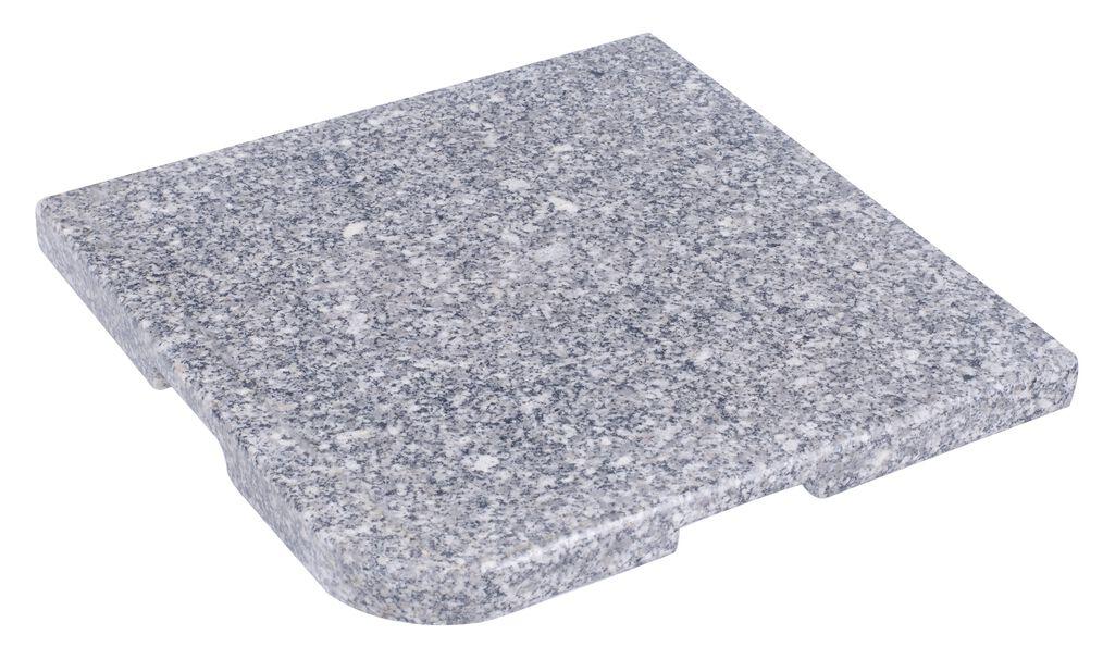 Parasollfot granit, 20 kg, Grå