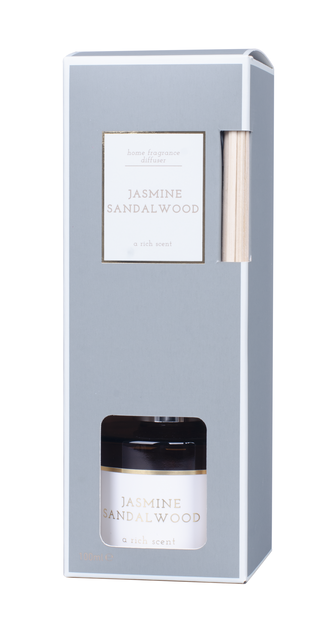 Duftpinner Jasmine/Sandalwood, Høyde 20 cm, Transparent