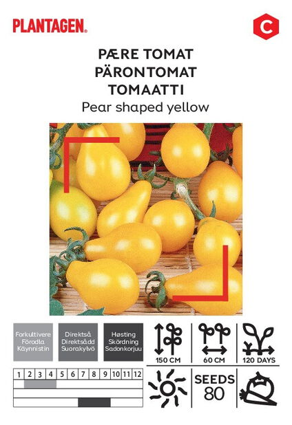 Pære tomat 'Pear shaped yellow'