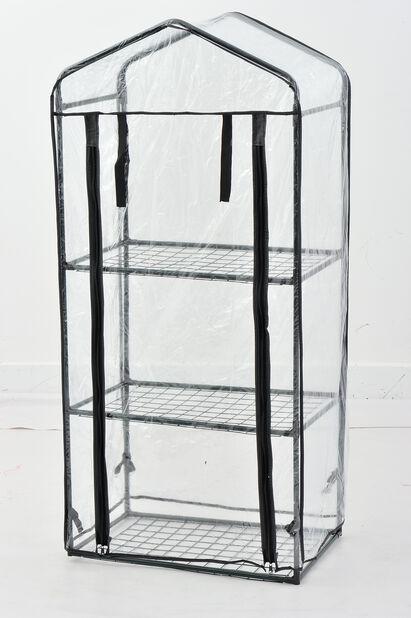 Minidrivhus, Høyde 125 cm, Transparent