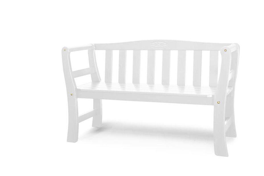 Benk Drømminge, Bredde 135 cm, Hvit