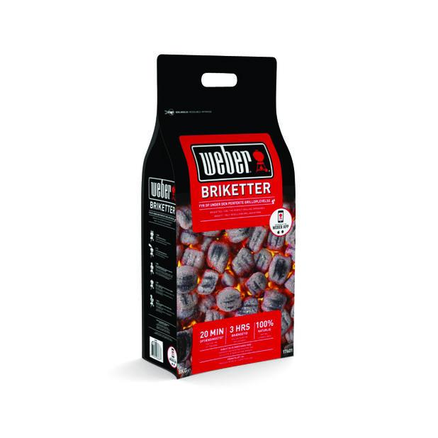 Weber Briquettes 8Kg, Svart