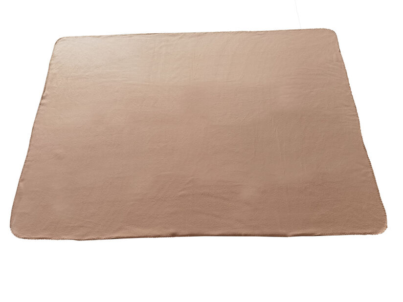 Fleece teppe, Lengde 175 cm, Brun