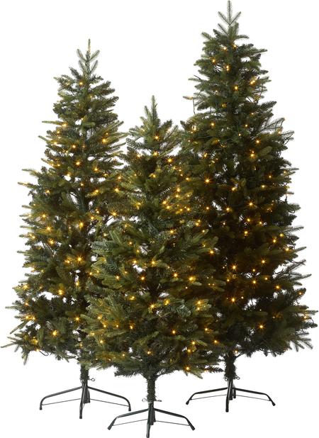 Kunstig juletre Narvik med lys, Høyde 180 cm, Grønn