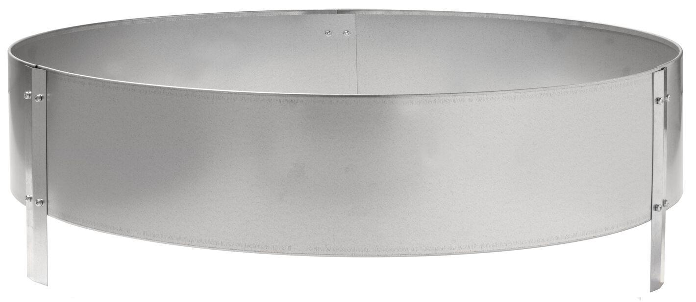 Dyrkekasse i sink, Ø90 cm, Sølv