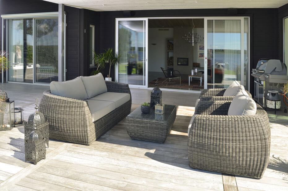 Sofagruppe Tara , 5 sitteplatser, Grå
