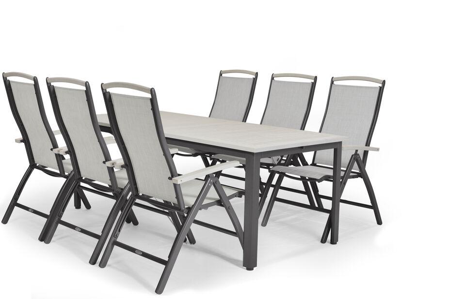 Veldig Spisegruppe Lyon XL 6 sitteplatser Grå | Plantasjen EW-37