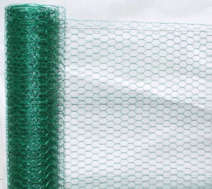 Metallnett plastbelag, Lengde 5 m, Grønn