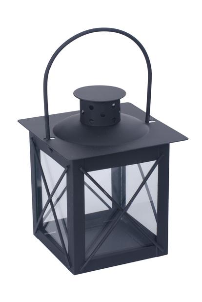 Lykt Pia H 13 cm, svart