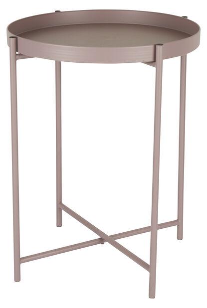 Sidebord Loke, Ø38 cm, Rosa