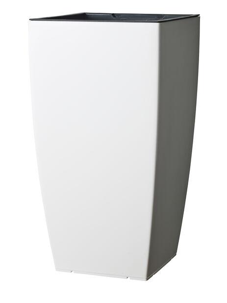 Selvanningspotte Leva, Ø31 cm, Hvit