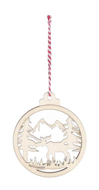 Juletre pynt, Ø10 cm, Tre