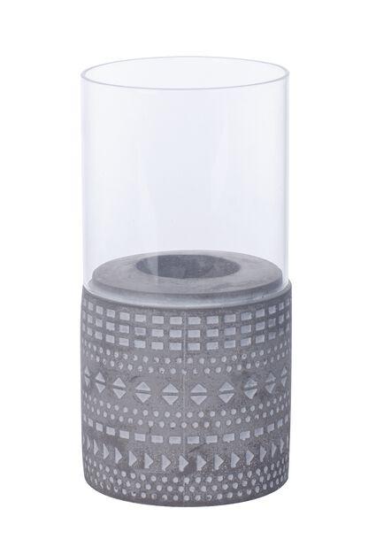 Telysholder Hedda, Høyde 18 cm, Grå
