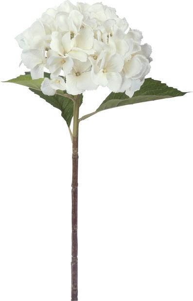 Hortensia kunstig, Høyde 51 cm, Sølv