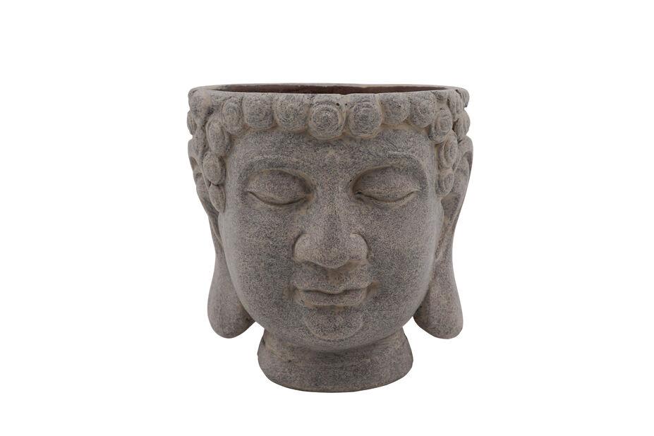 Buddhapotte, Ø14 cm, Grå