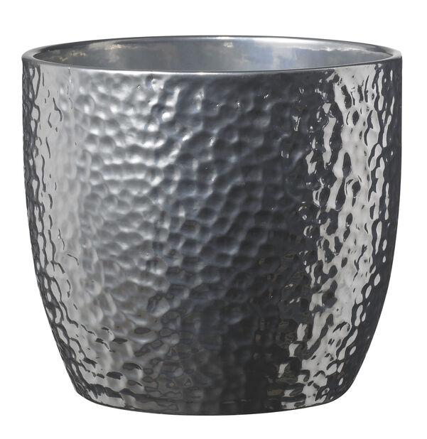 Potte Grace Ø13cm, sølv metallisk