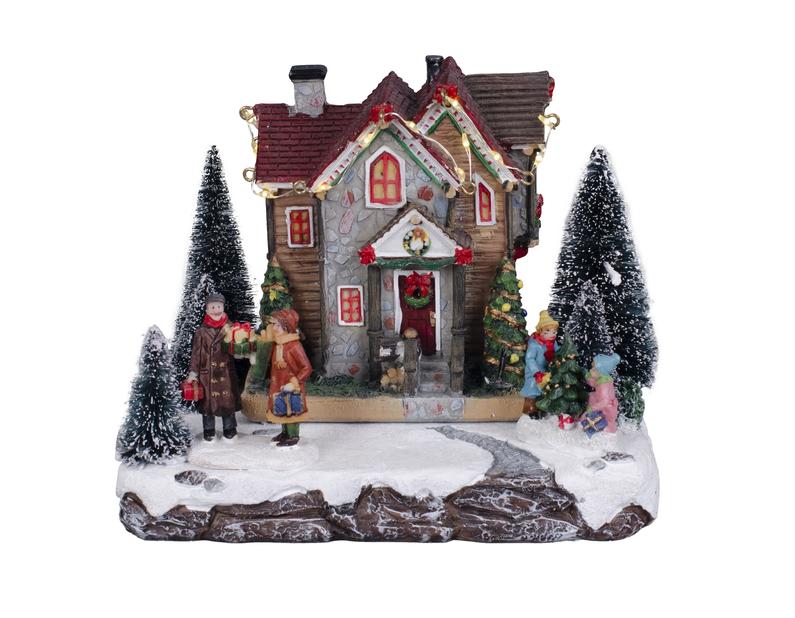 Julehus familiemotiv, Flerfarget
