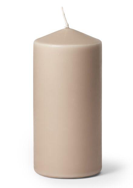 Blokklys, Høyde 14 cm, Grå