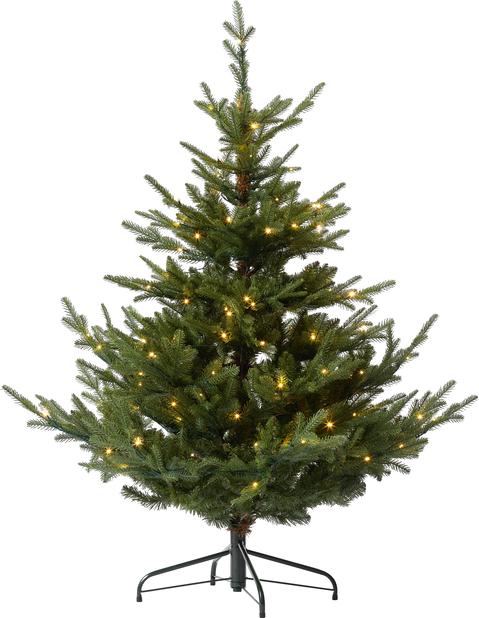 Kunstig juletre Langfjella med lys, Høyde 150 cm, Grønn