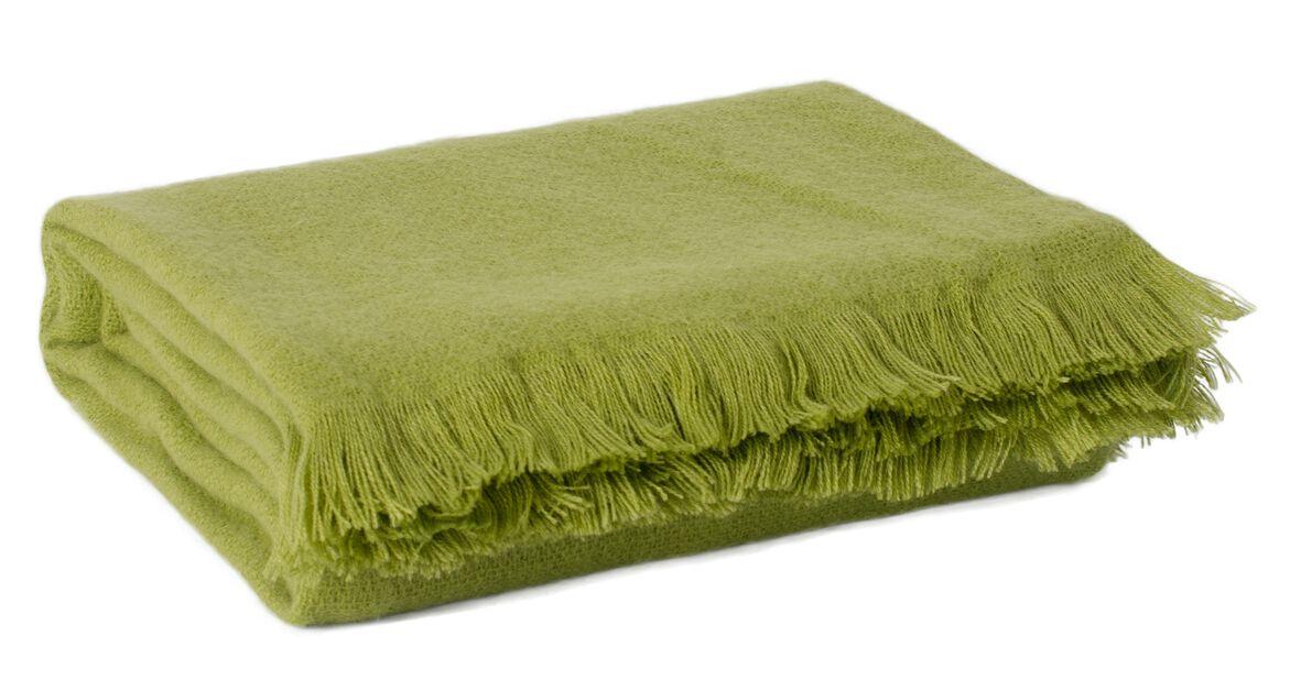 Pledd Solid, Lengde 170 cm, Grønn