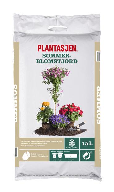 Jord sommerblomster, 15 L, Flere farger