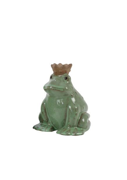 Dekorasjon frosk , Høyde 15 cm, Grønn