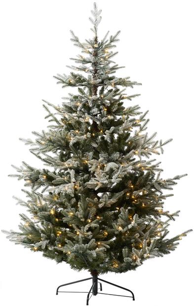 Kunstig juletre Langfjella Snow med lys, Høyde 210 cm, Grønn