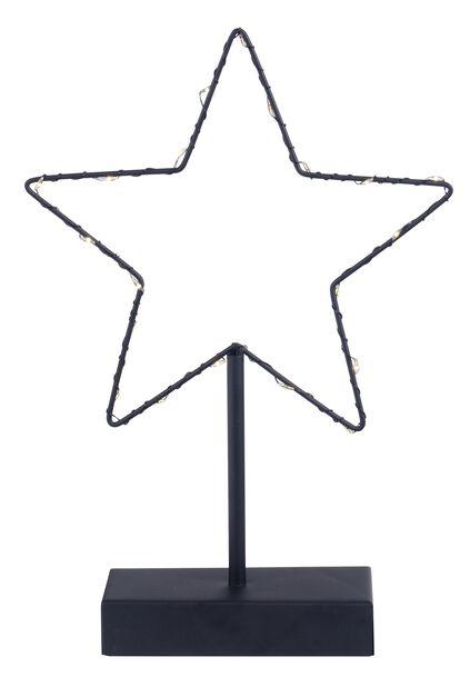 Bordstjerne 20 LED-lys, Høyde 30 cm, Svart