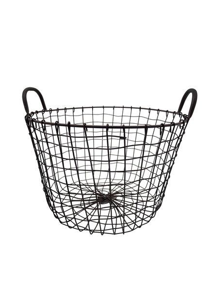 Trådkurv, Ø40 cm, Grå