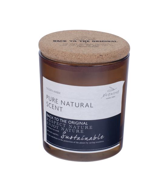 Duftlys vanilje med lokk, Høyde 8 cm, Brun