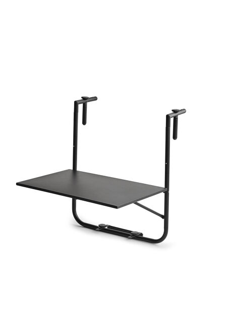 Balkongbord Beata, Bredde 60 cm, Svart