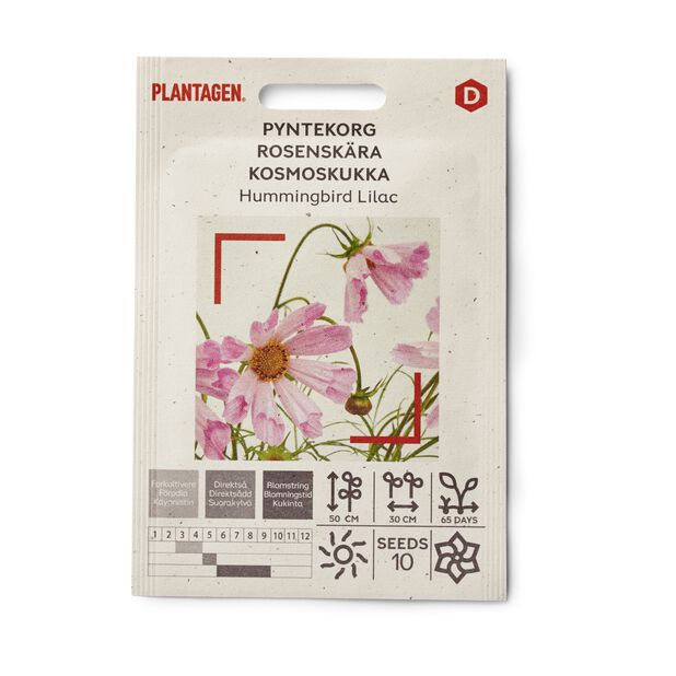 Pyntekorg 'Hummingbird Lilac'