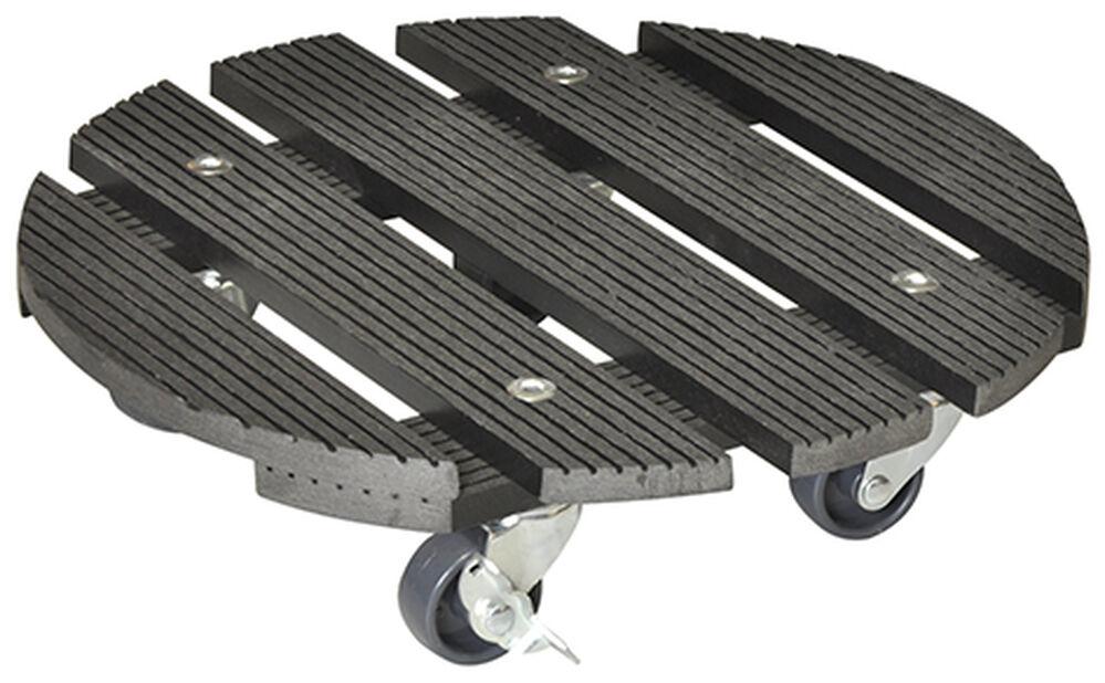 Potteunderlag med hjul Multi Roller, Ø29 cm, Grå