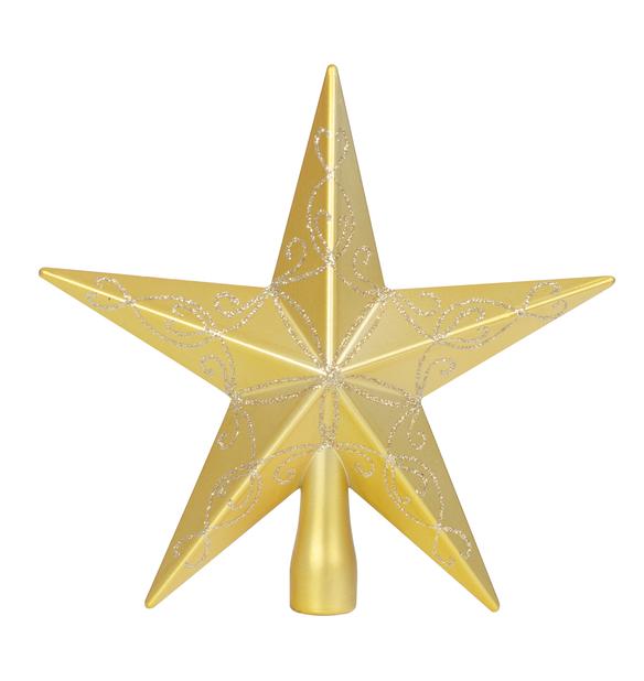 Juletrestjerne Gina, Høyde 20 cm, Gull