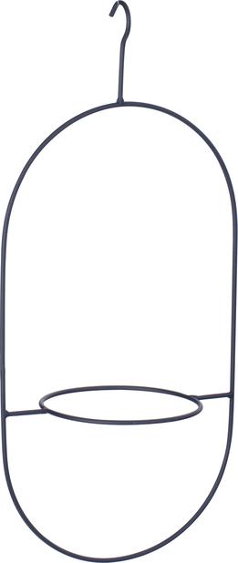 Oppheng for potte Nike oval, Ø46 cm, Svart