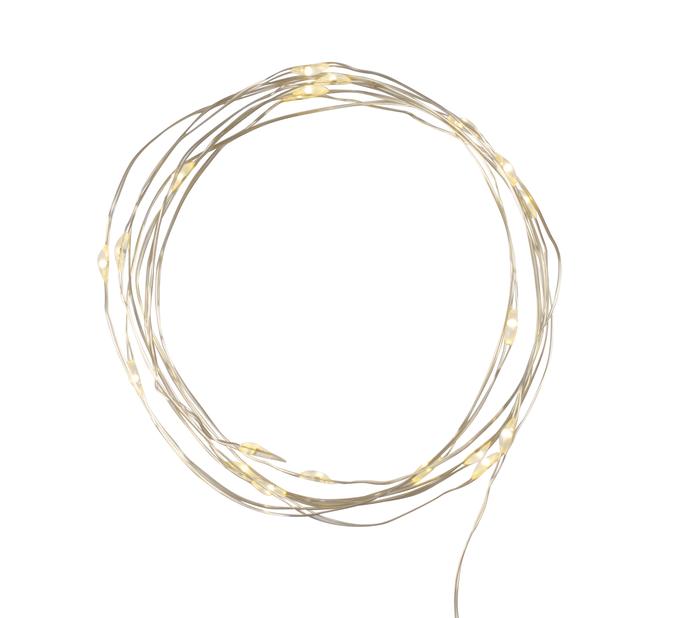 Lyslenke Knut 100 LED-lys, Sølv