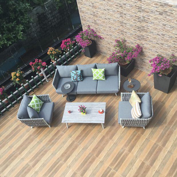 Loungesett Doha, 5 sitteplatser, Grå
