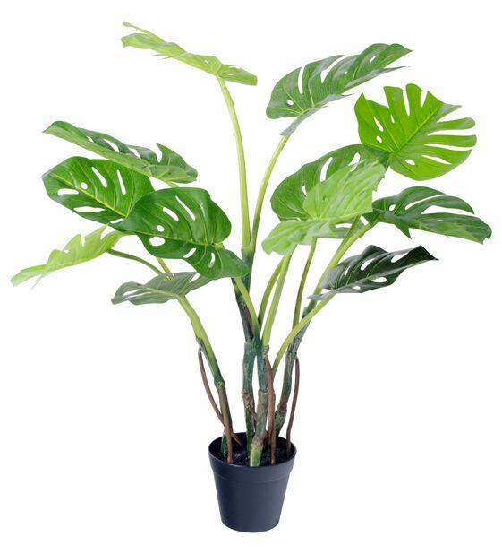 Monstera kunstig, Høyde 65 cm, Grønn
