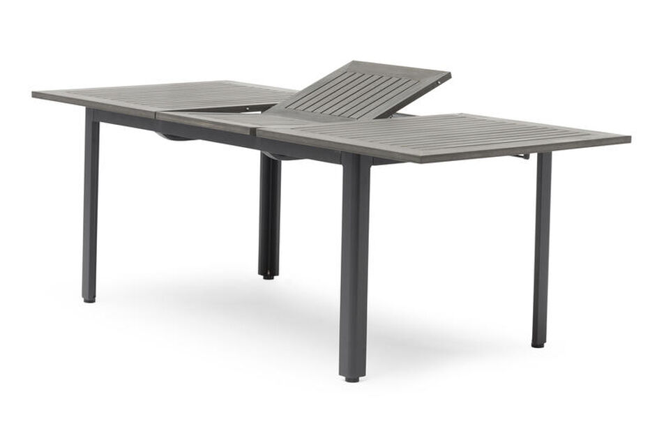 Spisebord Ammi mørk grå 90x150-200cm