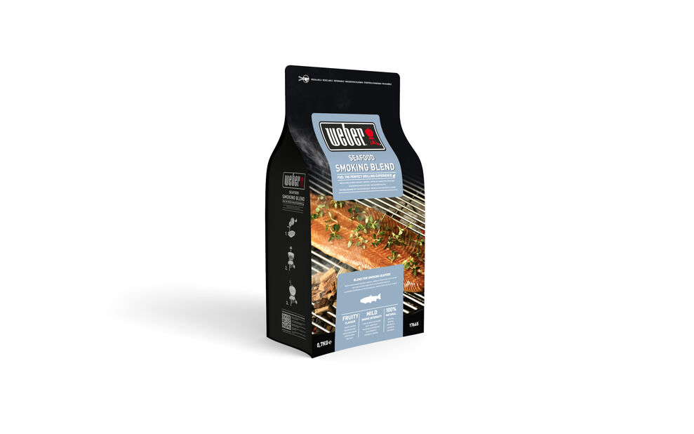 Smoking Wood Chips, Seafood, 700 g, Svart