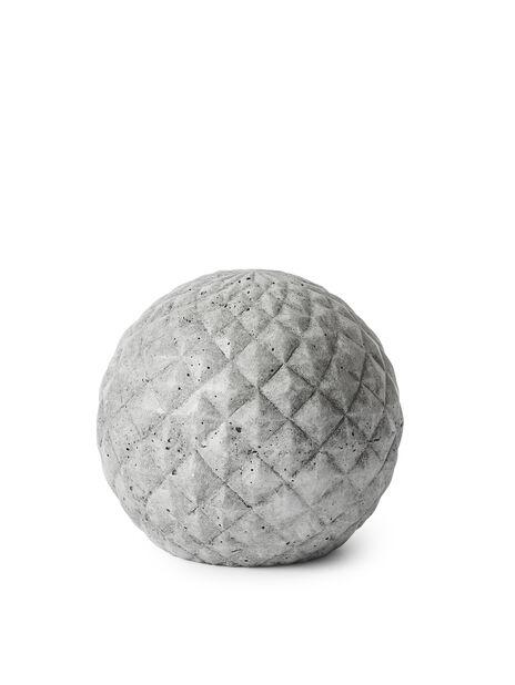 Dekorasjonskule, Høyde 23 cm, Grå