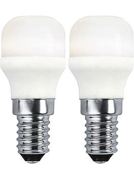 LED-pære E14-sokkel, 2 pk, Hvit