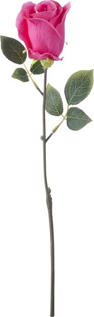 Rose snitt H45 cm, rosa, kunstig