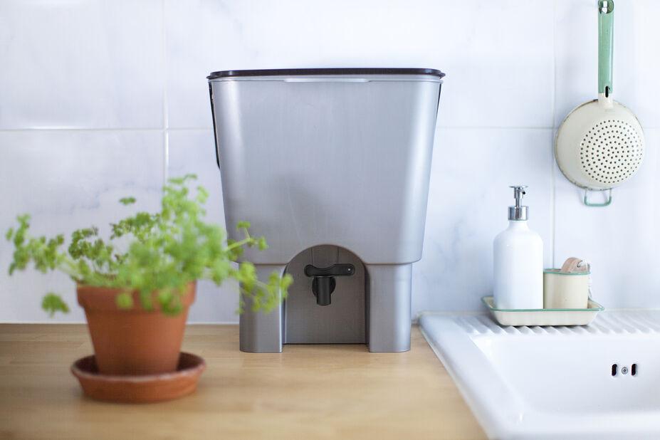 Kompostbeholder Urban Garden, 15 L, Grå