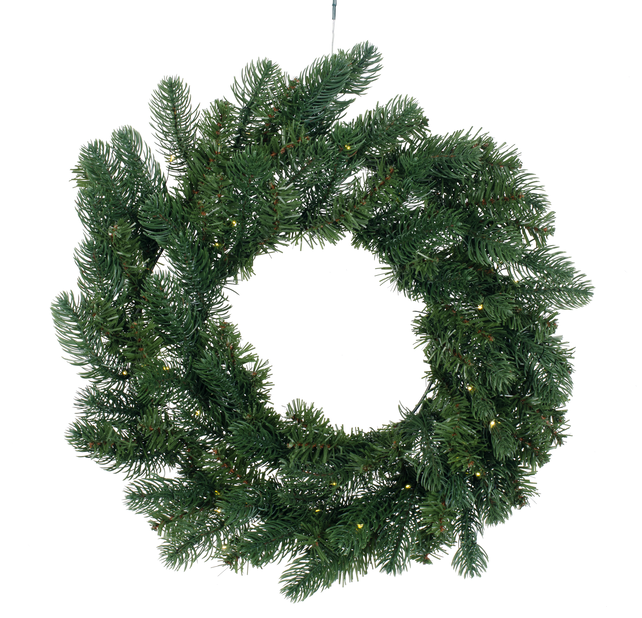 THUJA  WREATH 60 CM GREEN