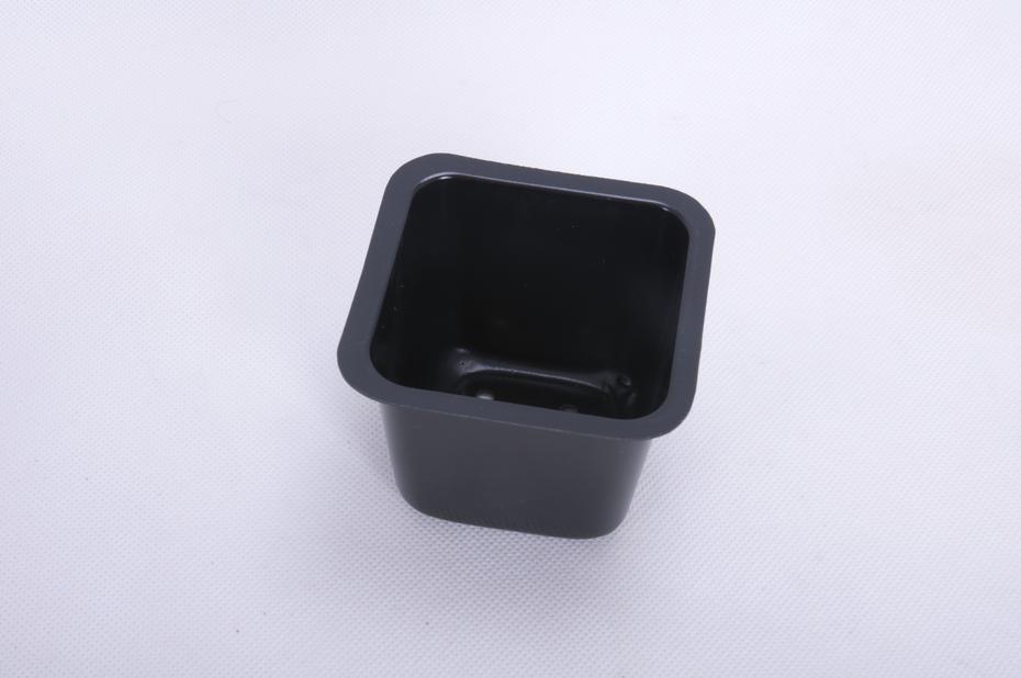 Plastpotte firkant, Bredde 9.5 cm, Svart