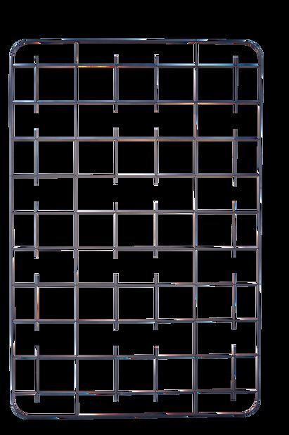 Espalier Cultura, Høyde 114 cm, Svart