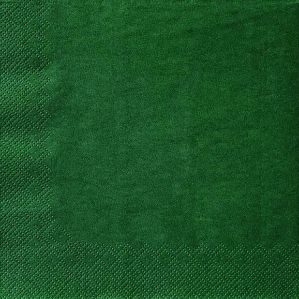 Juleservietter Grønne, Ø40 cm, Grønn